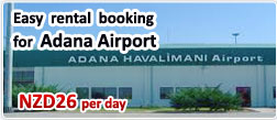 Easy rental booking for Adana Airport
