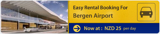 Easy rental booking for Bergen Airport