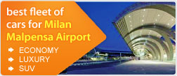 best fleet of cars for Milan Malpensa Airport