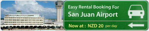 Easy rental booking for San Juan Airport