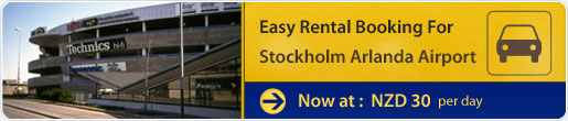Easy rental booking for Stockholm Arlanda Airport