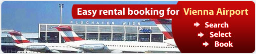 Easy rental booking for Vienna Airport