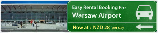Easy rental booking for Warsaw Airport